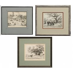 Charles B. Rogers, three lithographs