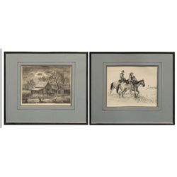 Charles B. Rogers, two lithographs