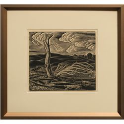 Lester Raymer, woodcut