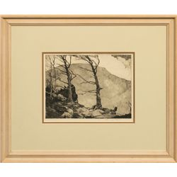 Chauncey Ryder, etching