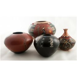 Four Hopi Pots, Lawrence Namoki