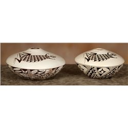 Two Hopi Bowls, Feather Woman Sylvia Naha