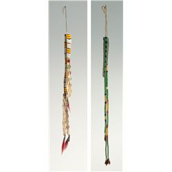 Plains and Blackfoot Beaded Awl Cases