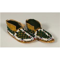 Cheyenne Beaded Doll's Moccasins