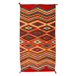 Navajo Germantown Weaving, 4' x 2'1""
