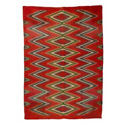 "Navajo Germantown Weaving, 3'10"" x 2'8"""