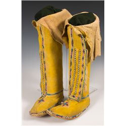 Southern Cheyenne Child's High Top Moccasins