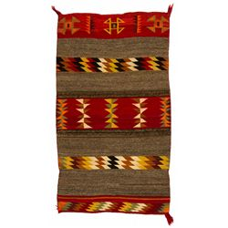 "Navajo Double Saddle Blanket, 4'7"" x 2'7"""