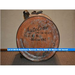 Autolene special heavy sae 50 motor oil barrel for Motor oil by the barrel