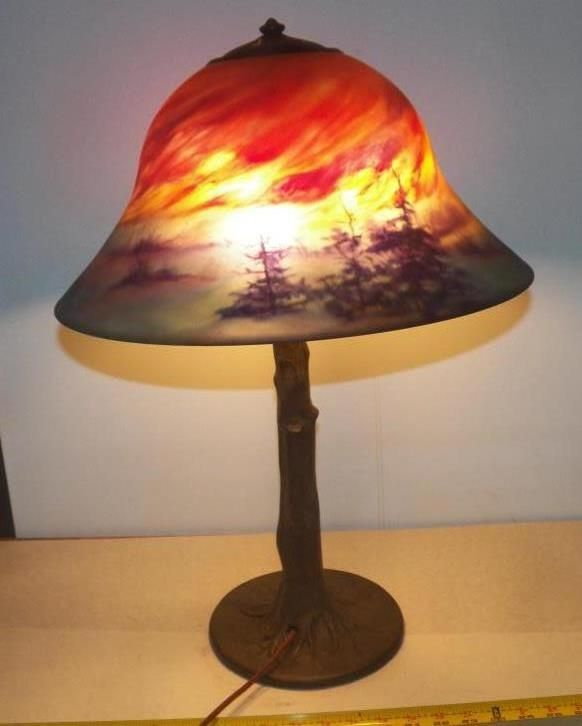 Signed Handel Lamp Base & Shade Founded in 1876 in Connecticut ...