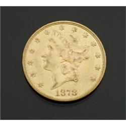 U.S. Double Eagle 20-Dollar Gold Coin Dated 1878S...