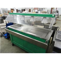 Buffet line 5 39 steam table w sneeze guards - Sneeze guard for steam table ...