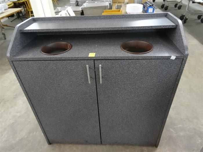mica trash can cabinet