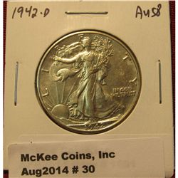 30.1942-D Walking Liberty Half AU 57