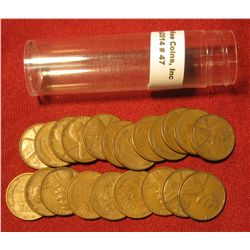 47. (21) 1953 High S Shift Lincoln Cents in a plastic tube. All Mint errors.