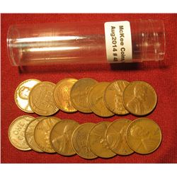 48. (15) Old Lincoln Cent Mint errors with laminated or Split planchets in a plastic tube.