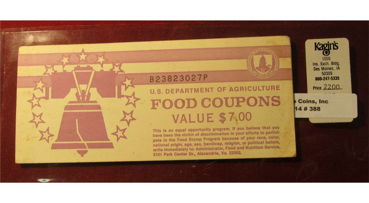 rare us department of agriculture food coupon booklet value 700 with