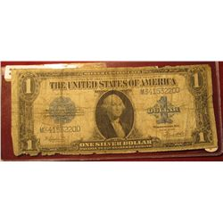 465. Series 1923 U.S. One Dollar Silver Certificate. Edges a little raggy, But otherwise a good note