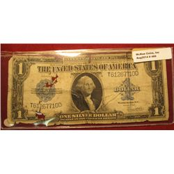 466. Series 1923 U.S. One Dollar Silver Certificate. Very raggy, signed by Speelman and White.