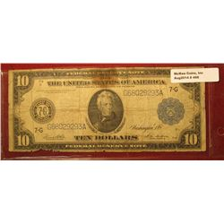 468. Series 1914 U.S. $10 Federal Reserve Note from Chicago, Illinois. Signed White & Mellon. Edges
