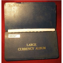 469. Large Currency Album with 10 Pages. Used, But nice.