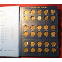 550. 1910-67 Partial Set of Lincoln Cents in a Whitman album.