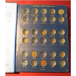 551. 1910-40 Partial Set of Lincoln Cents in a Whitman album.