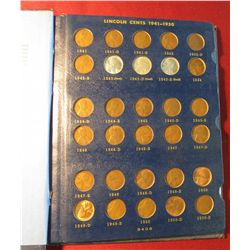 552. 1941-67 Partial Set of Lincoln Cents in a Whitman album. Several BU  Coins.