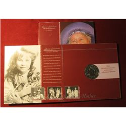 553. 1900-2000 Queen Elizabeth the Queen Mother Five Pound Crown in Special Commemorative Holder. Br