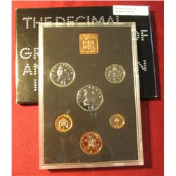 "555. 1971 ""The Decimal Coinage of Great Britain & Northern Ireland"" Proof Set. In original holder as"
