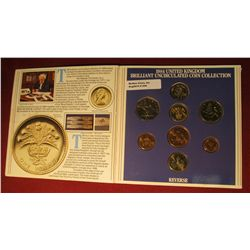559. 1984 United Kingdom Uncirculated Coin Collection in original Royal Mint holder. Gem BU . 8 pcs.