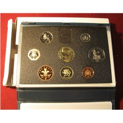 "567. 1995 ""United Kingdom Proof Coin Collection"" Including the Dove Commemorative Two Pound. 8 pcs."