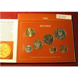 568. 1986 International Year of Peace Royal Australian Mint Uncirculated Coin Collection in original