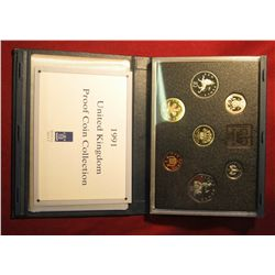"574. 1991 ""United Kingdom Proof Coin Collection"" 7 pcs."