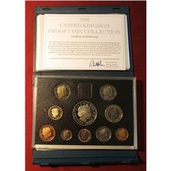 583. 1998 United Kingdom Proof Coin Collection in original holder as issued. Includes 1948-1998 Five
