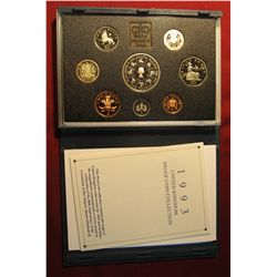584. 1993 United Kingdom Proof Coin Collection in original holder as issued. Includes 1953-1993 Five