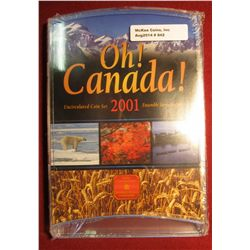 "842. 2001 Canada ""Oh! Canada!"" Uncirculated Coin set, sealed in original packaging"