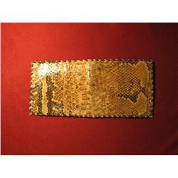 913.Handmade wallet with genuine snakeskin and leather – unique and different