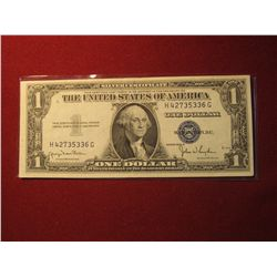 933. Series 1935-D US $1 Silver Certificate Almost Uncirculated