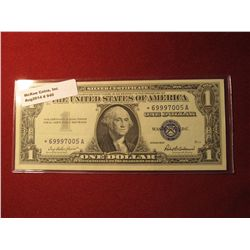 940. Series 1957 US $1 Silver Certificate STAR NOTE Almost Uncirculated