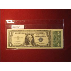 950. 2 (two) US $1 Silver Certificates – series 1957 (Almost Uncirculated) & 1957-A (XF)