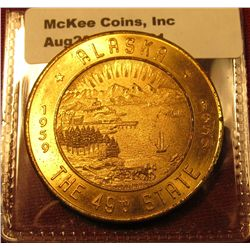 1321. 1959 Alaska the 49th State token / Medal – Good for $1.00 in trade
