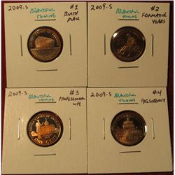 1332. Set of 4 2009-S Proof Lincoln Bicentennial Commemorative Cents, all with BEAUTIFUL toning – SC
