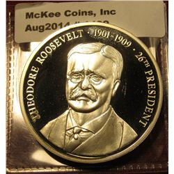 1499. Silver plated Presidential medal – Theodore Roosevelt 26th President 1901-1909