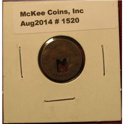 1520. The Newry Store, Newry SC – Good For 1¢ in Merchandise – company store token similar to coal c