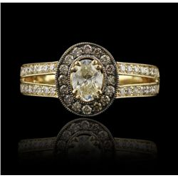 14KT Yellow Gold 0.95ctw Diamond Unity Ring A4072