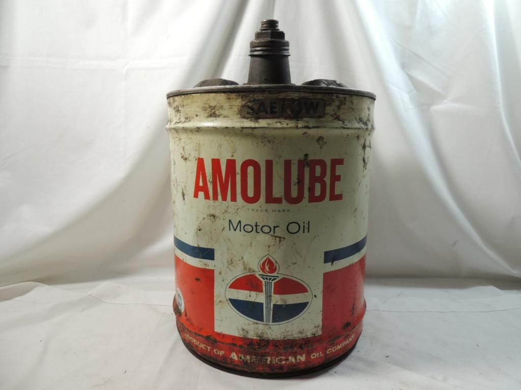 Large vintage amolube motor oil can for Motor oil manufacturers in usa