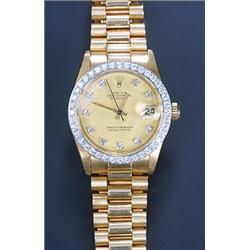 , Oyster Midi, an 18ct gold and diamond bracelet watch, circa 1982