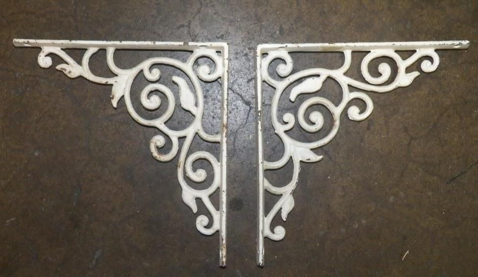 2-Cast Iron Corner Brackets Cast Iron Corner Bracket Pair