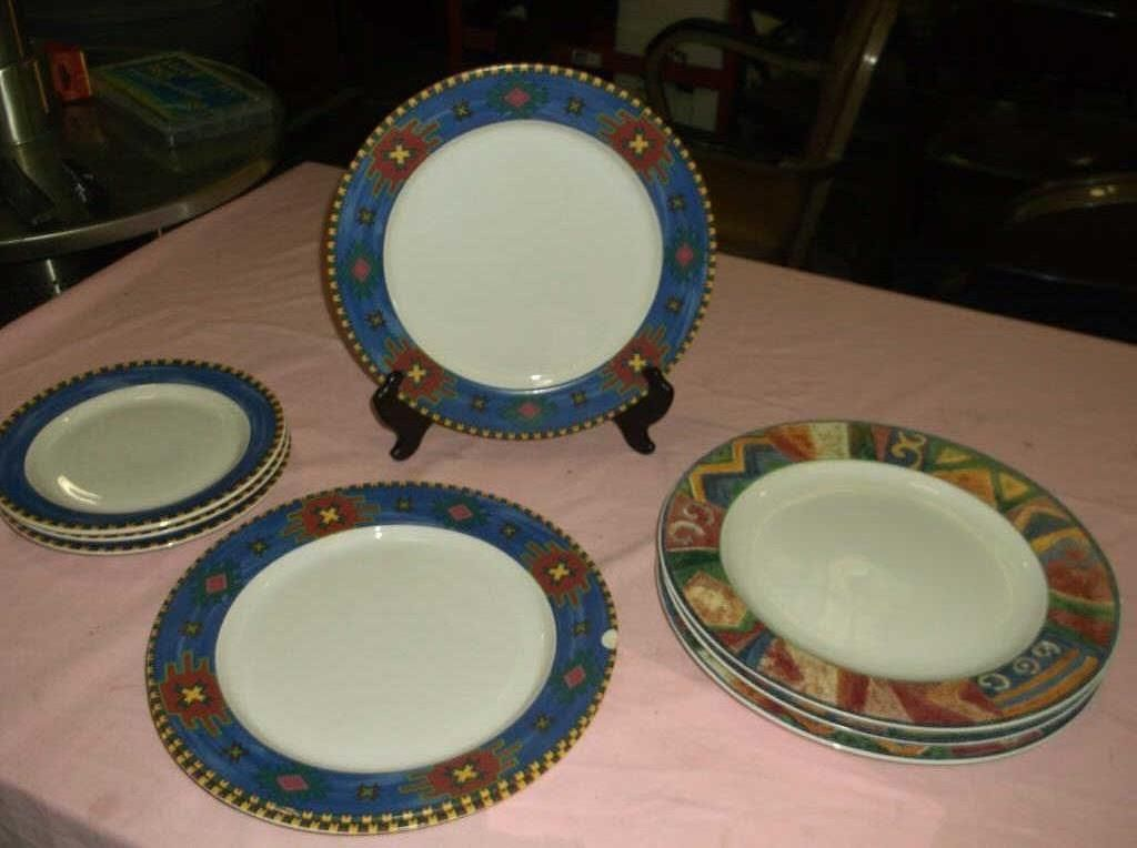 Image 1  9 Western Plates we have 2 different patterns but are interchangeable with each ... & 9 Western Plates we have 2 different patterns but are ...